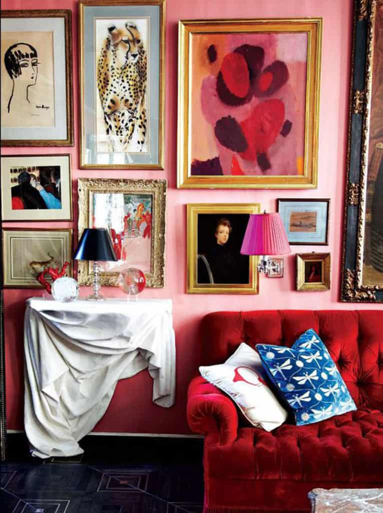 using red in interior design