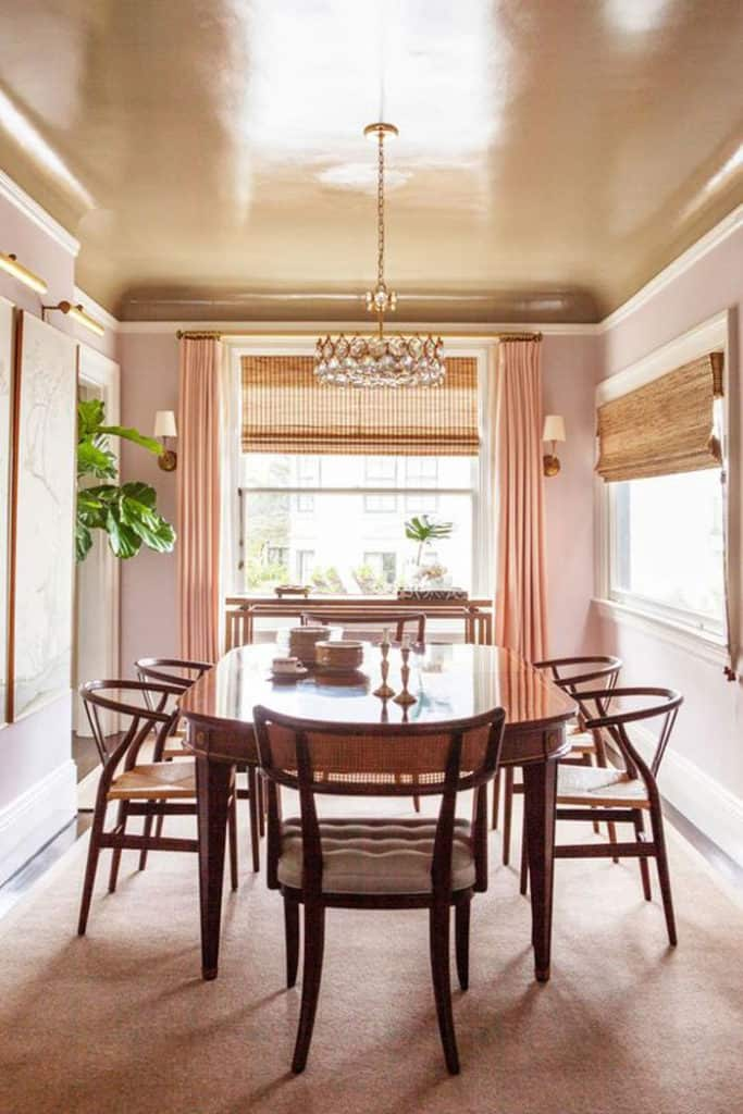 dining-room-blush-painted-ceiling