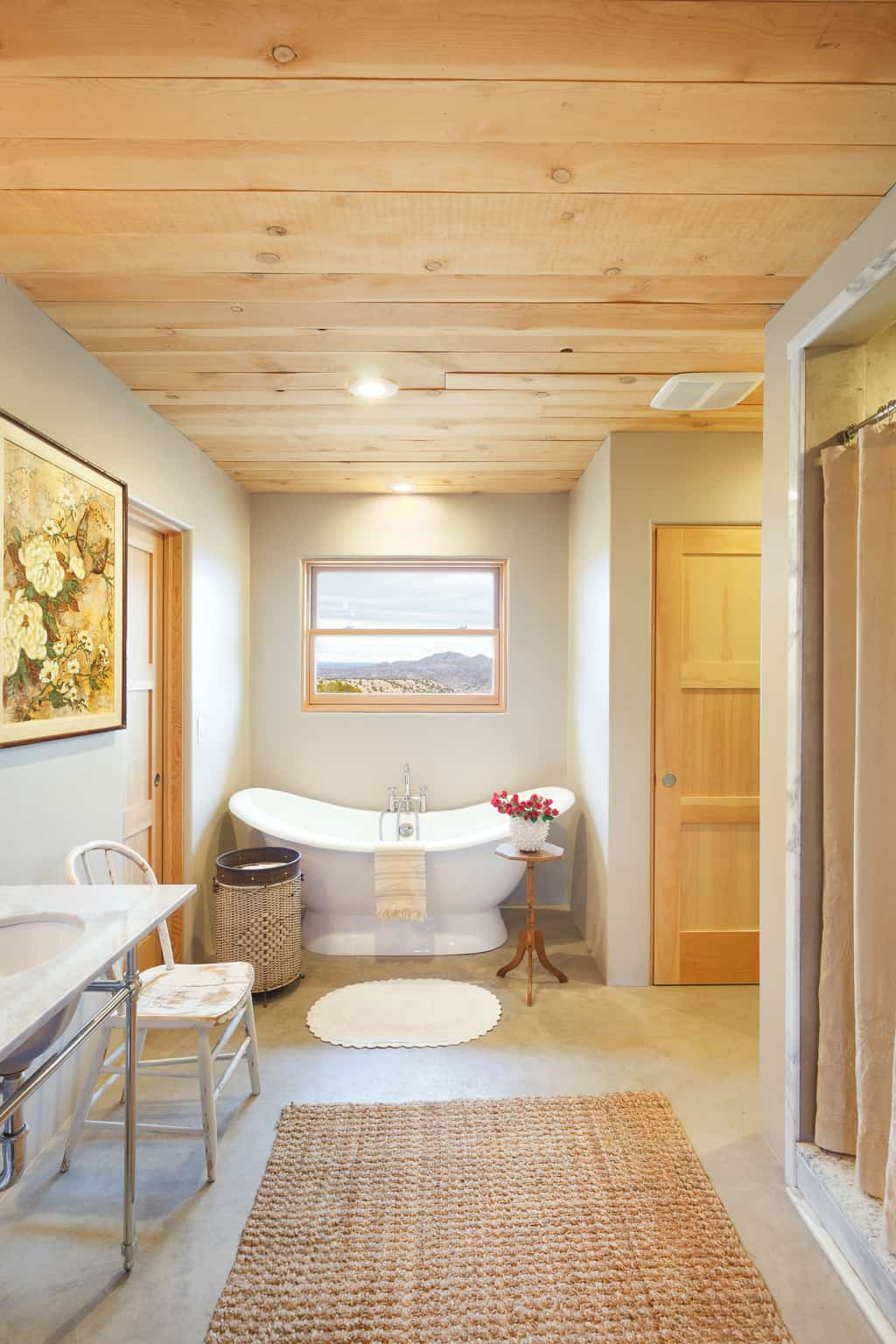 french and french interiors elegant rustic bathroom