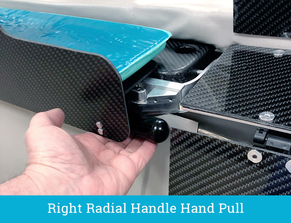 The EGGNEST - Right Radial Handle Hand Pull