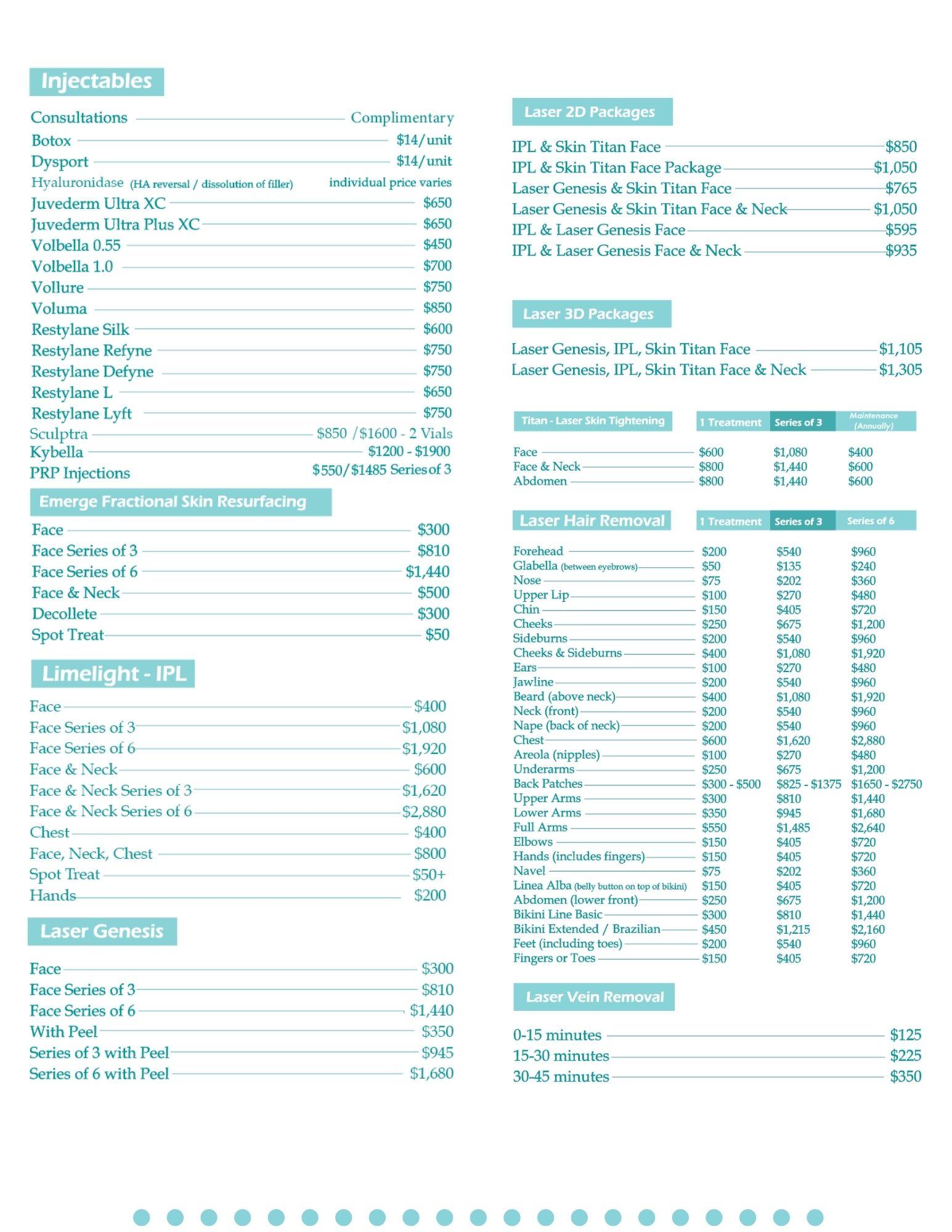 Renew Price List For Website NEW
