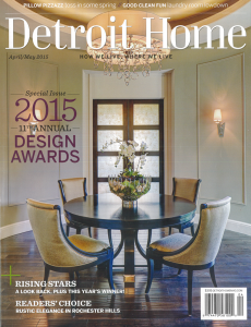 Detroit Home 2015 Awards Issue Cover