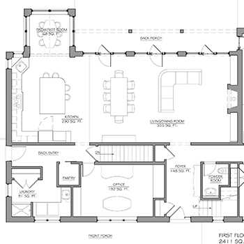 Cobblestone 1st Floor Plan