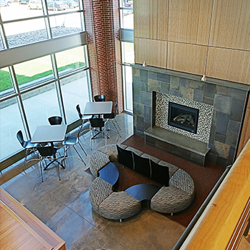 Dordt Interior Commons Fireplace