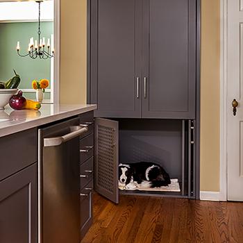 West side kitchen dog crate