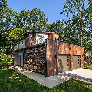 House on the Arb Master Garage Wood Storage