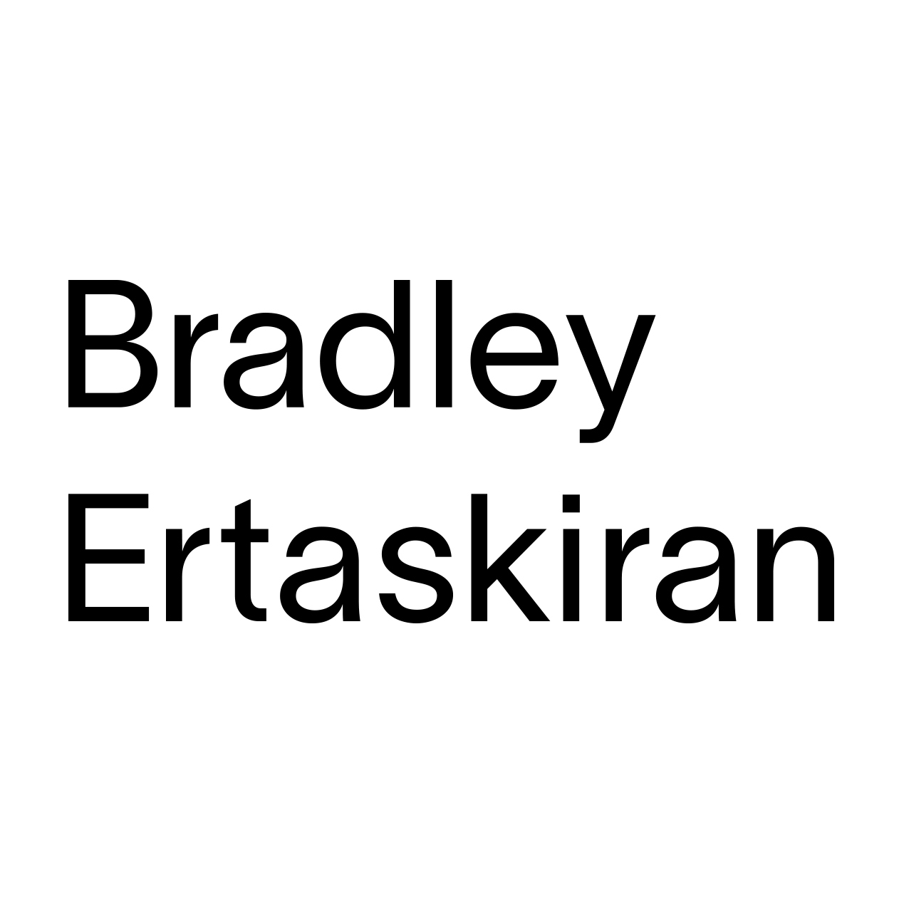 Bradley Ertaskiran Logo Art Gallery Montreal Canada