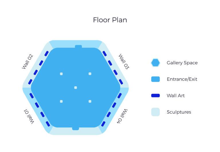 Art Gate Floor Plan Art Collision VR exhibition Virtual Reality Réalité virtuelle