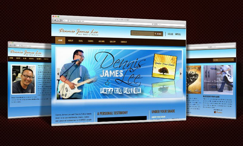 Dennis James Lee – Hawaii Christian Musician Website Design