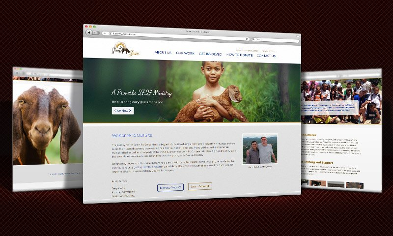 Charity Website Design  |  Goats for Jesus