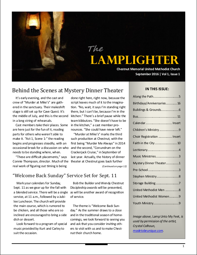 Lamplighter Newsletter