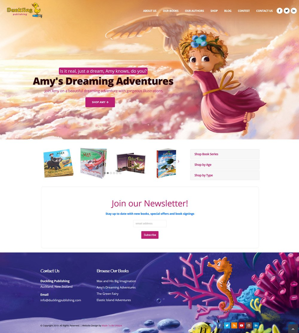 Children's Book Publishing Company Website Ecommerce Design
