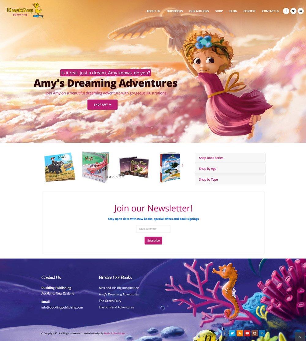 Children's Book Publishing Company Website Ecommerce Design