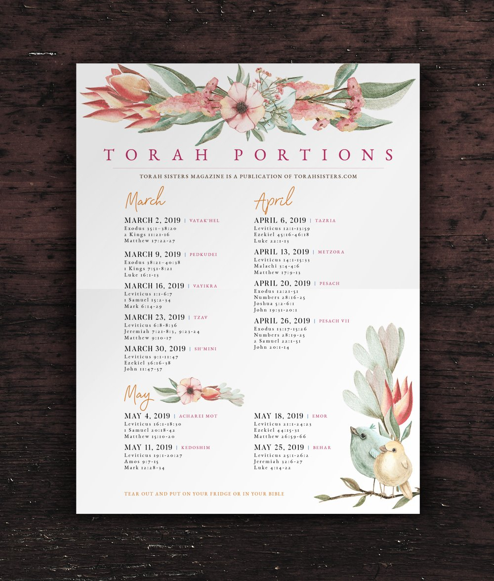 Torah Portions Poster Design Spring 2019