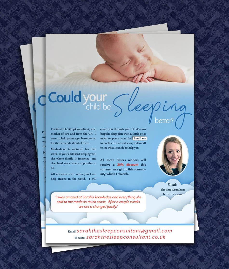 Magazine Full Page Flyer Advertisement – Sleep Consultant