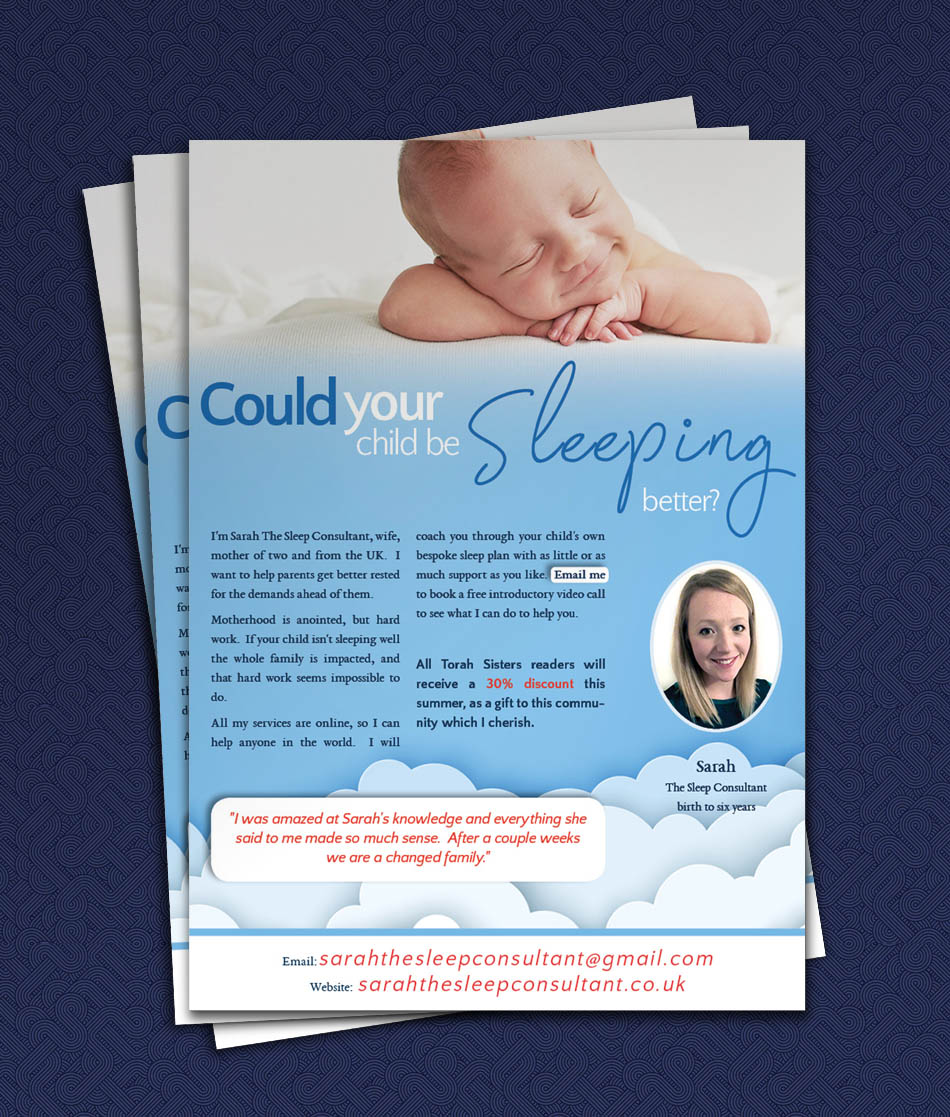 Magazine Full Page Flyer Advertisement – Sleep Consultant