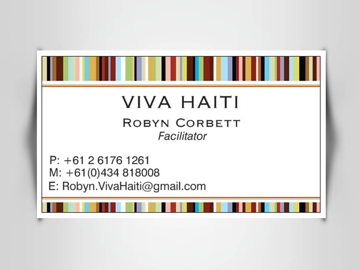 Business Card Design - Haitian Charity Ministry