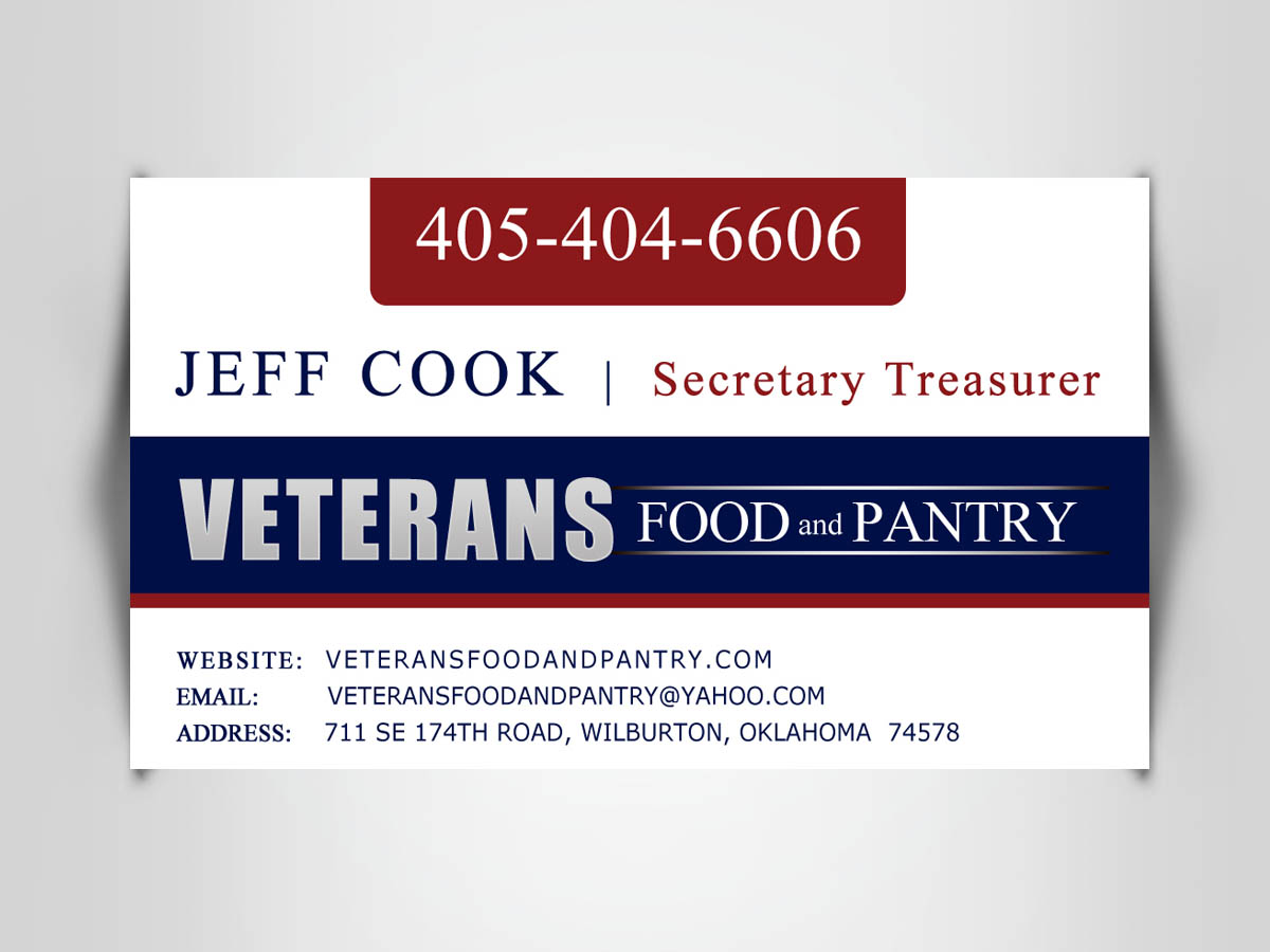 Business Card Design - Veteran Food Pantry