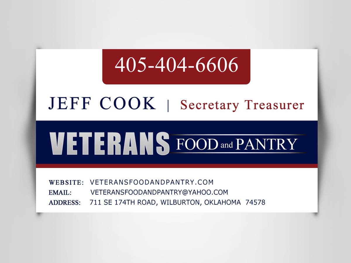 Business Card Design - Veteran Food Pantry