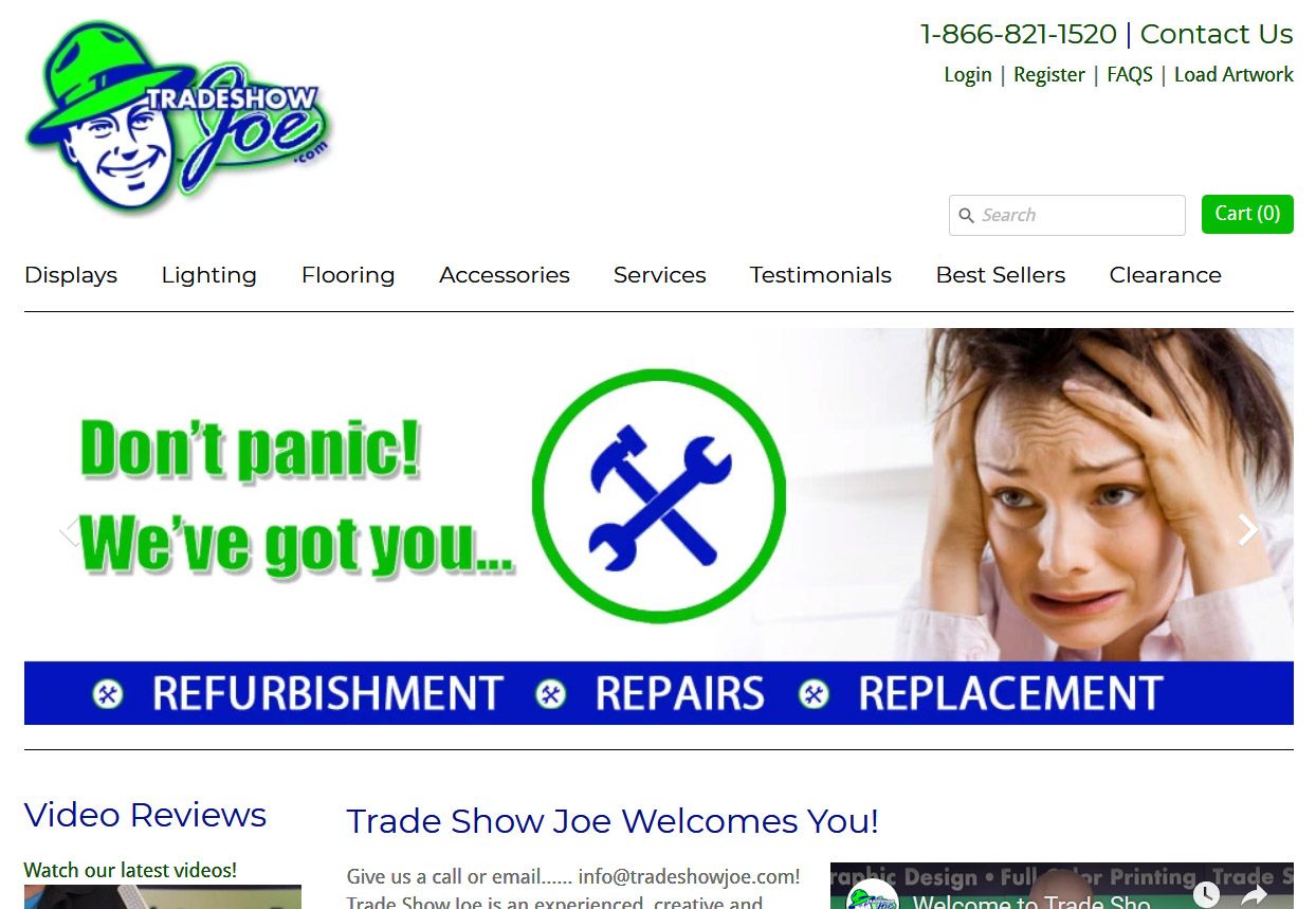 Product Design – Website Management Support Tradeshowjoe