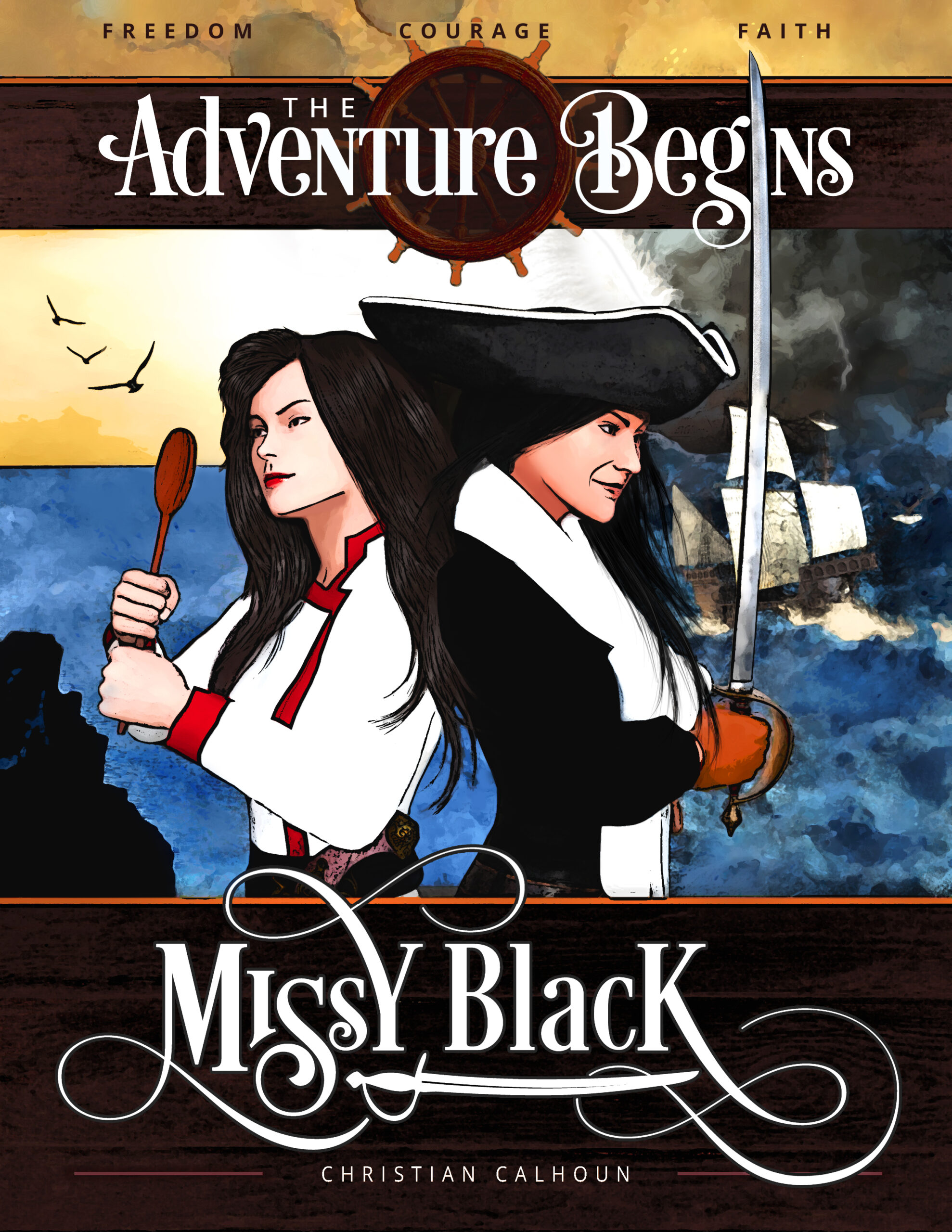 Flyer and Poster Design for Matching Book Series Cover Design | Missy Black Pirate
