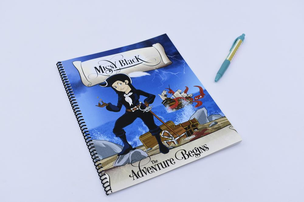 Notebook Cover Product Design to Match Children's Illustrated Book