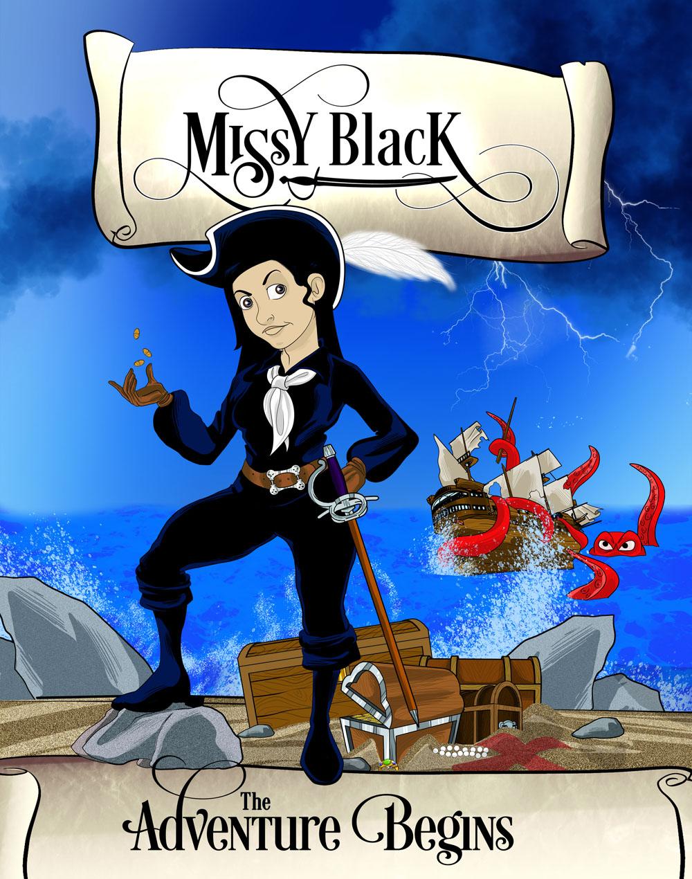 Poster Design for Children's Missy Black Illustrated Book