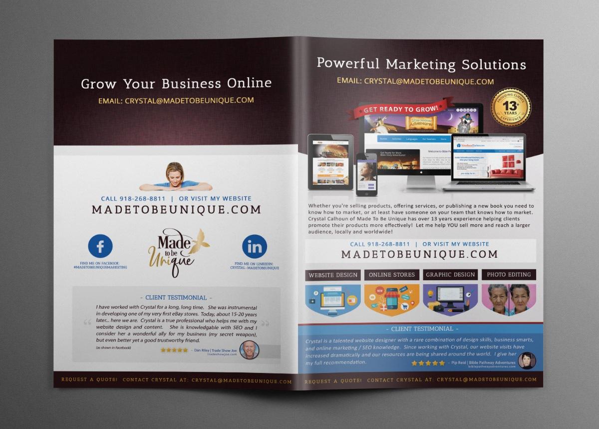 Business Brochure Design Outside