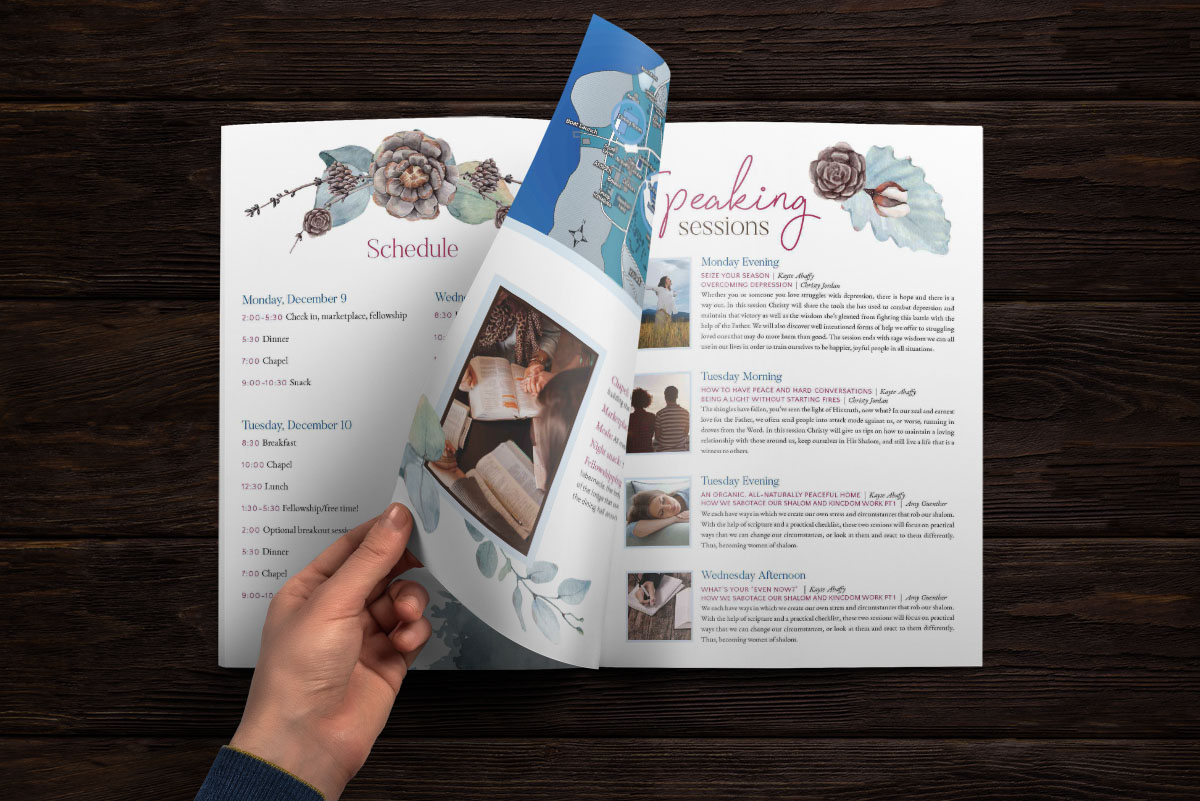 Custom Retreat Brochure Design