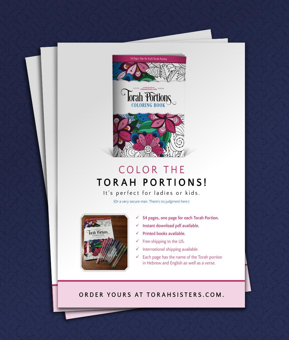 Custom Magazine Advertisement for Coloring Book | Torah Sisters