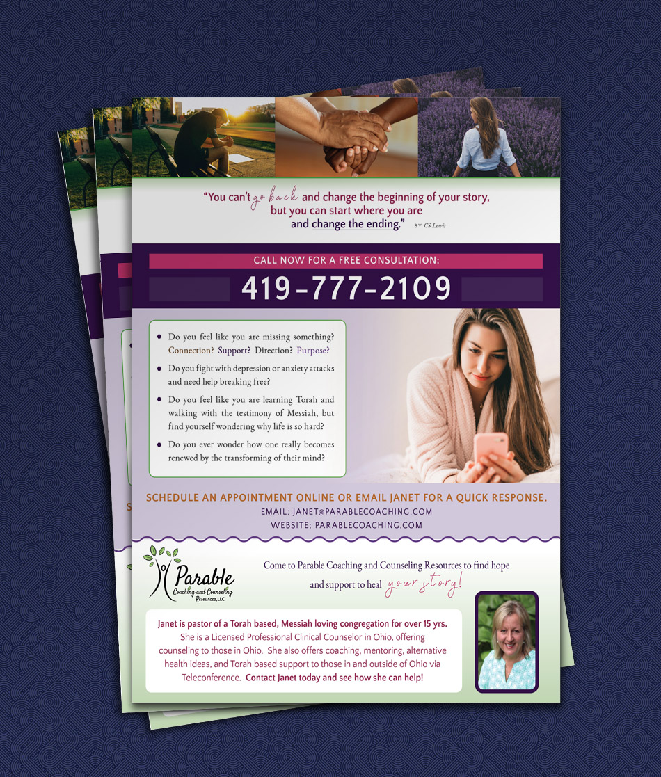 Custom Magazine Advertisement for Counseling Services | Parable Coaching