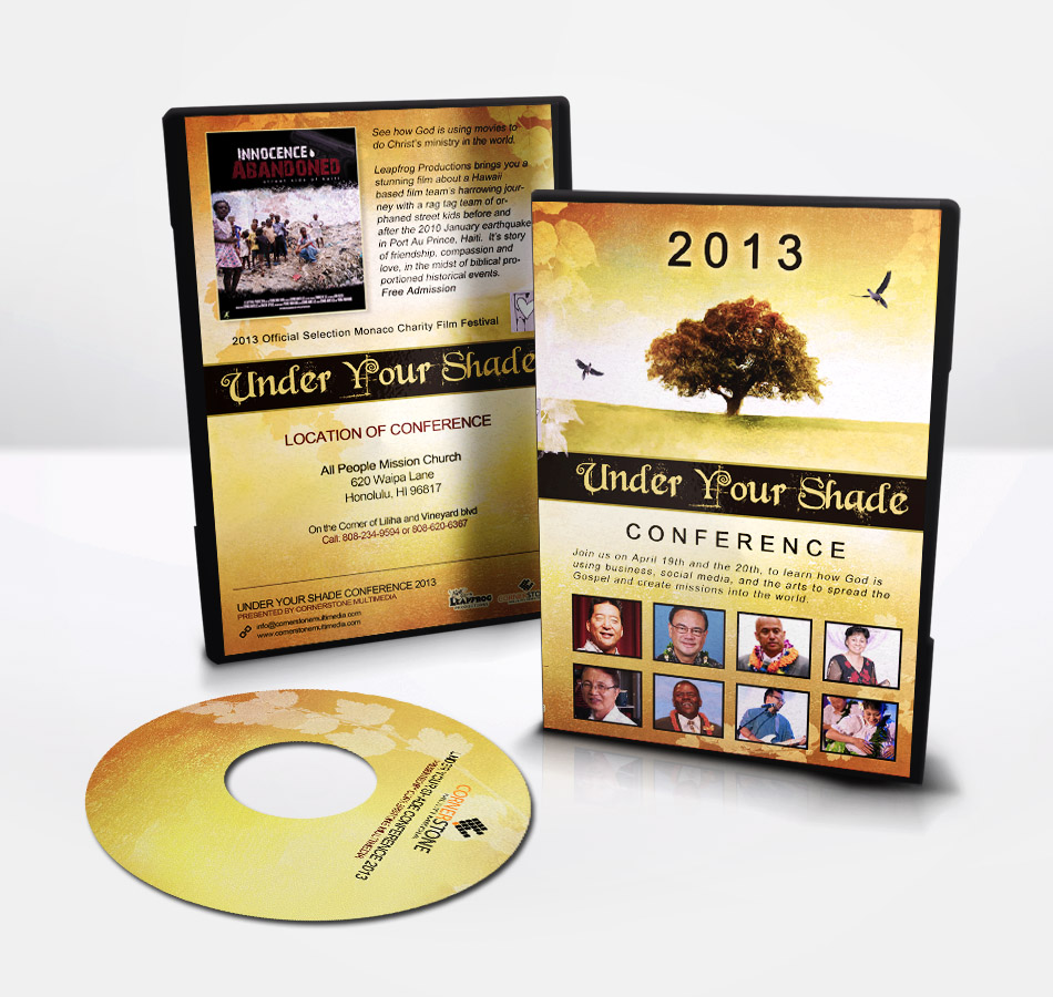 CD Cover Design Speaking Event Conference