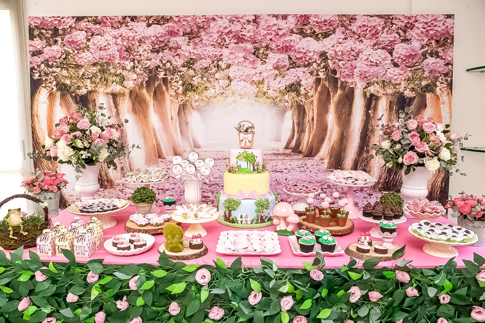 Enchanted Pink Forest