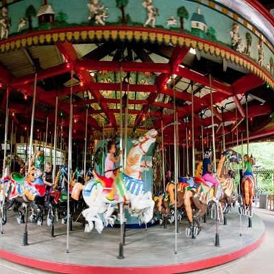 Central Park Carousel with Horses