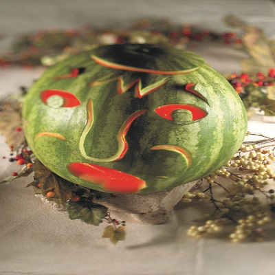 gtrrn watermellon carved for halloween