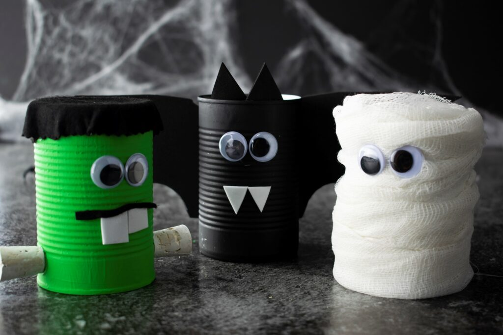 Halloween Spooky Cans Crafts