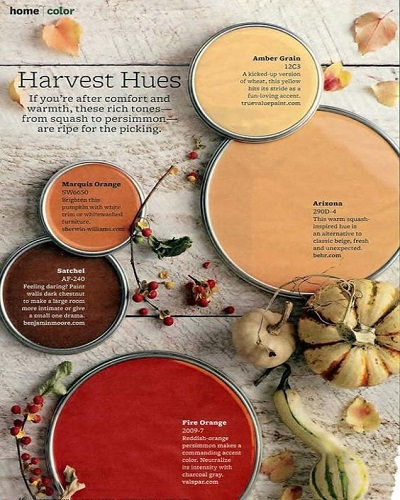 Fall Paint Color harvest hues