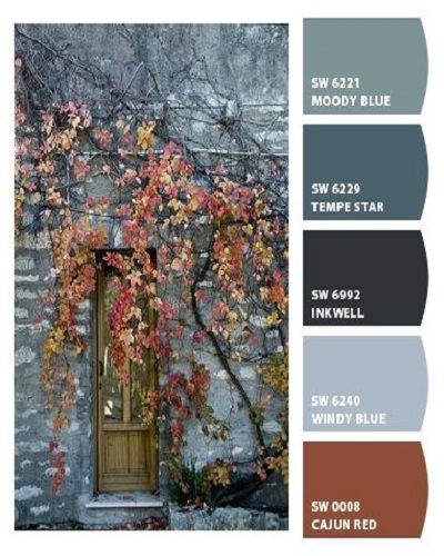 fall color pallet blue hues