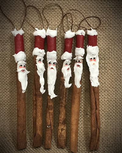 Cinaman Santa Ornaments