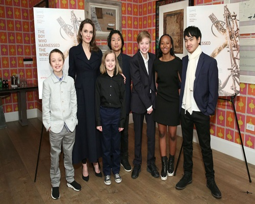 Angelia Jolie and Kids