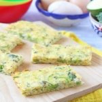 Broccoli Cheese Frittata Fingers