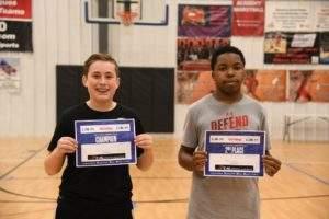 NBA skills challenge finalists boys