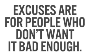 excuses bad