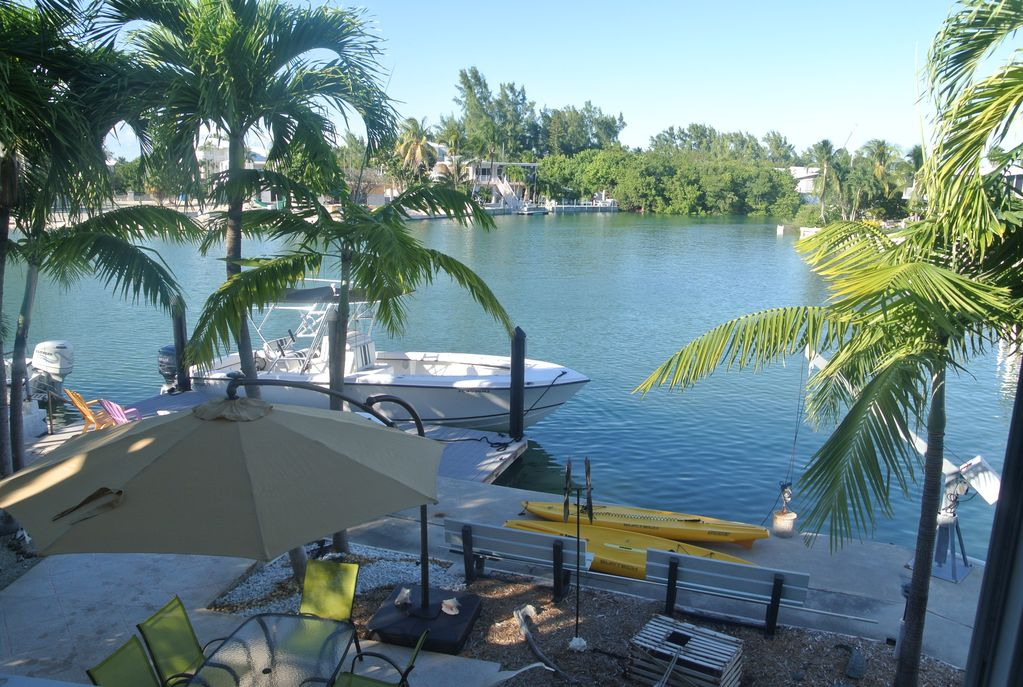 Channel view from living room. Lower Matecumbe Florida keys