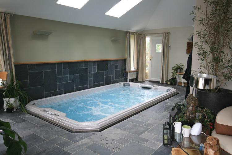 indoor-installtion-of-swim-spa-with-sky-lights