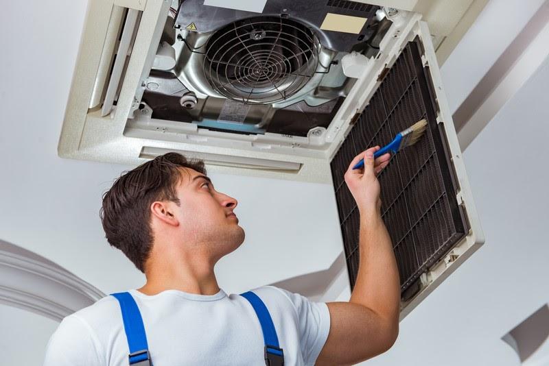 HVAC maintenance man