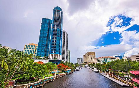 north lauderdale river and skyrise