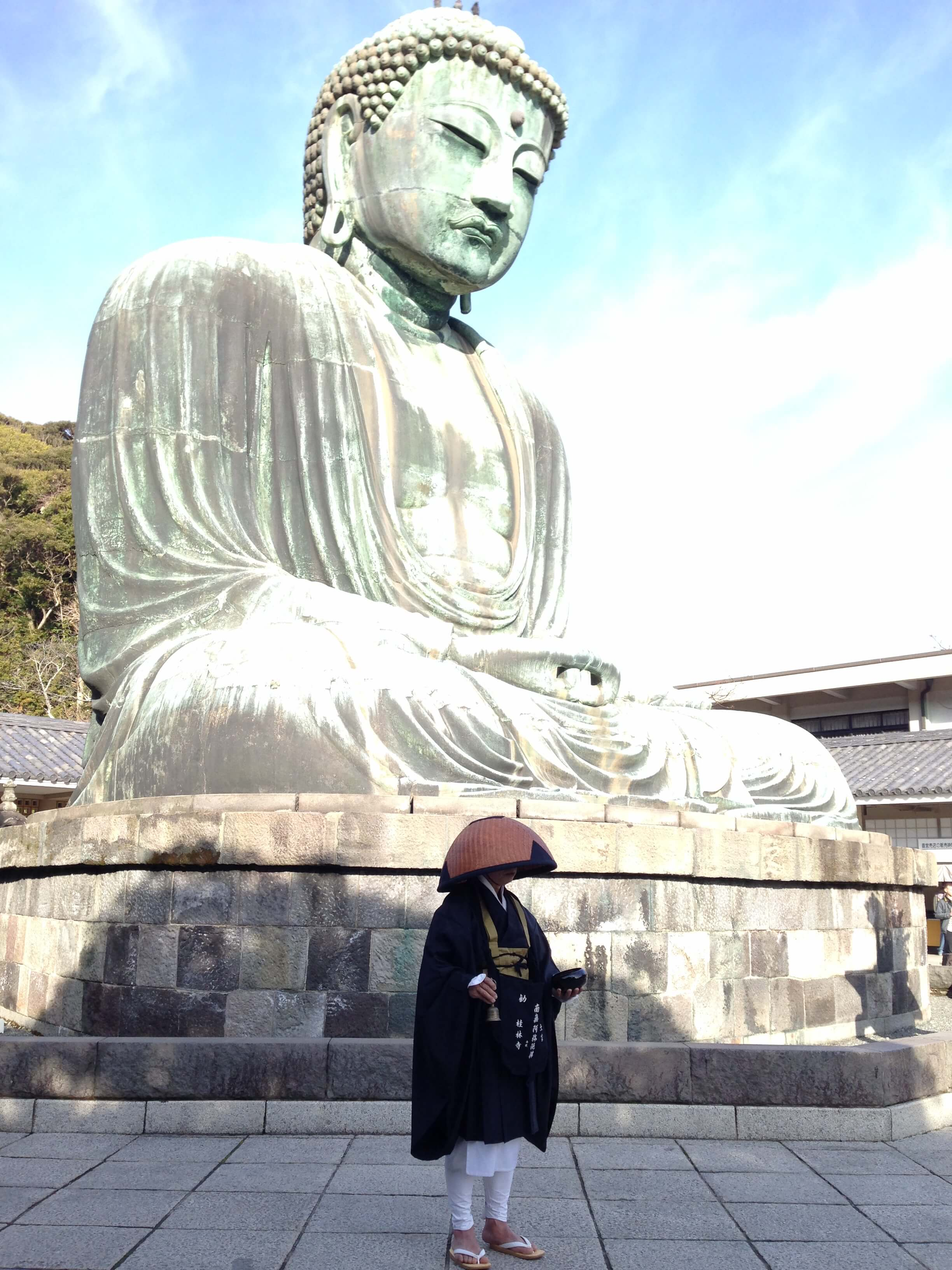 Great Buddha in Kamakura, Japan. I explored this area with a fellow solo traveler I met along the way.