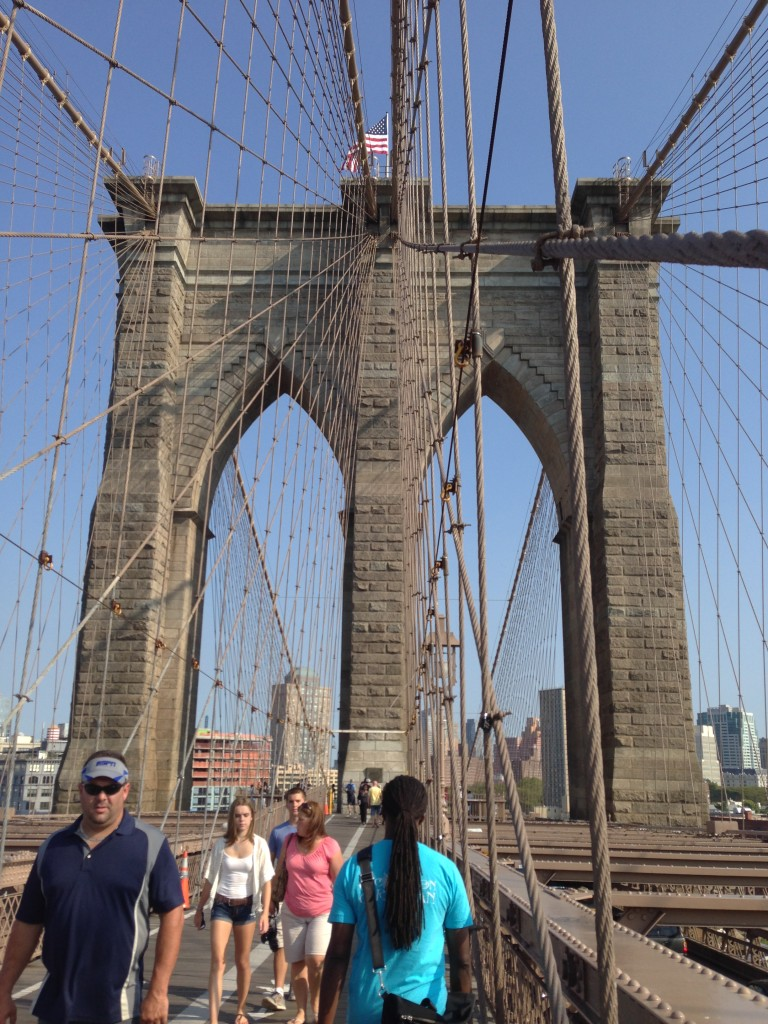 I took a walking tour to Brooklyn while my husband had business meetings in New York City. Walking tours are a great way to meet people and sightsee in a small group setting