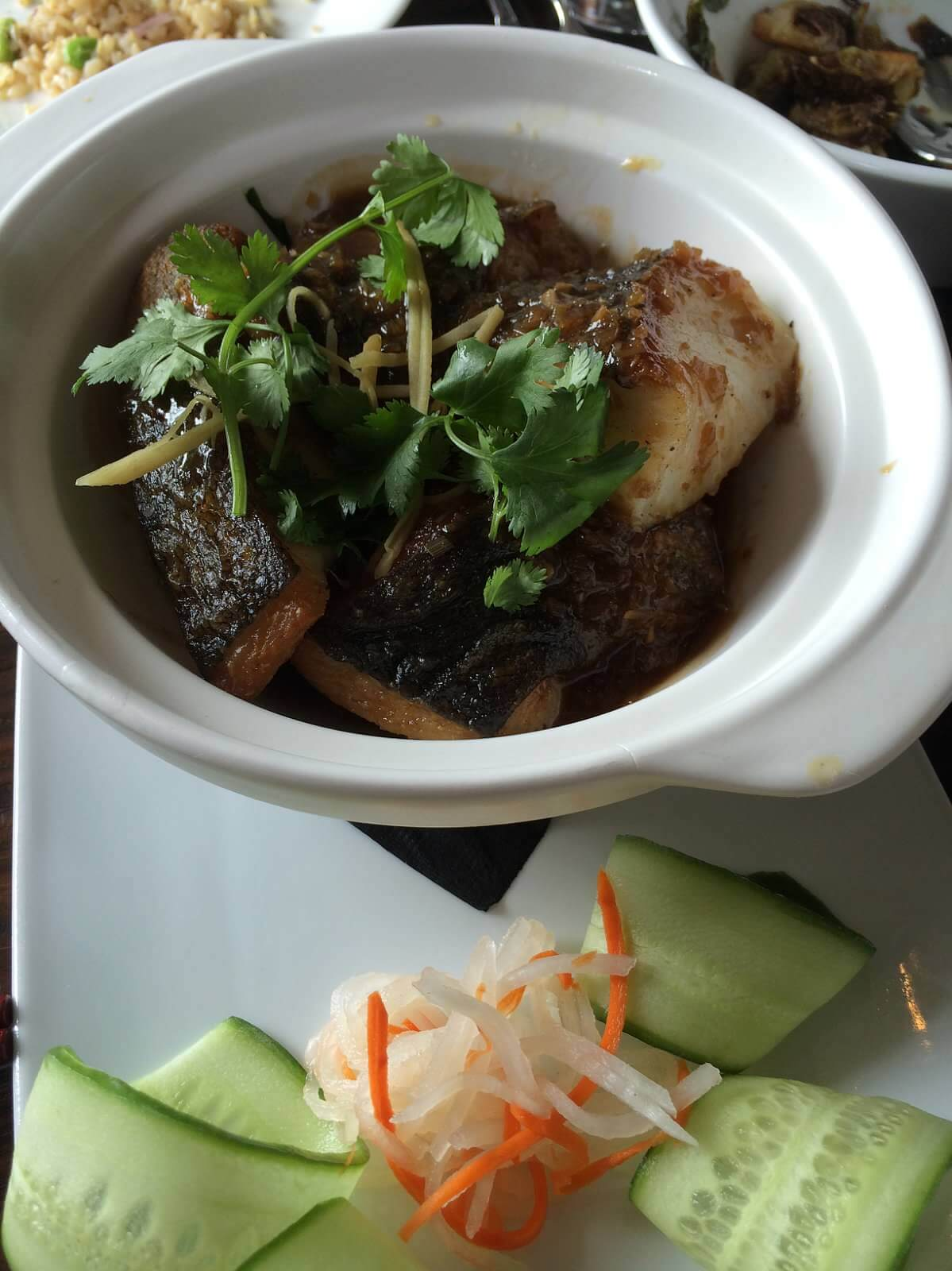 Ca Kho--Black Cod in a Clay pot.